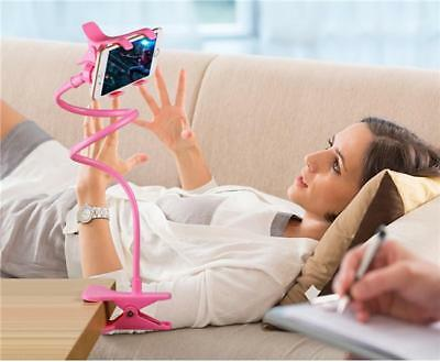 Universal 360 Lazy Bed Desktop Car Stand Mount Long Arm Holder For Cell Phone BS