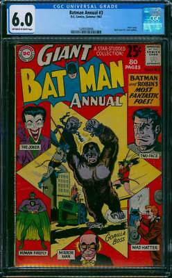 Batman Annual # 3  Batman's Most Fantastic Foes !  CGC 6.0 scarce book !