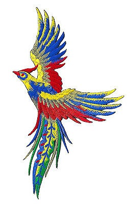 Ecutcheon patch Phoenix Peacock bird celestial thermo adhesive patch embroidered
