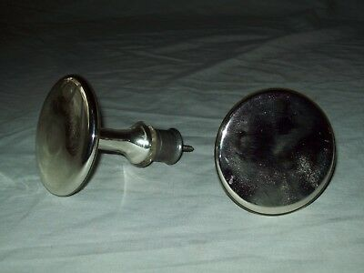 Pair of  Victorian era  Mercury glass  curtian tiebacks 3""