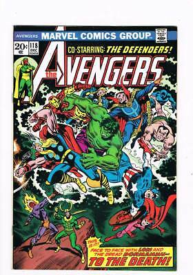 Avengers # 118  Face to Face with the Dread Dormammu !  grade 8.5 scarce book !
