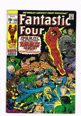Fantastic Four # 100  Spectacular 100th Anniversary grade 5.0 scarce book !!