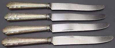 "Lot 4 vtg Alvin Sterling Silver MAYTIME 8.75"" Luncheon Knife Silverware Flatware"