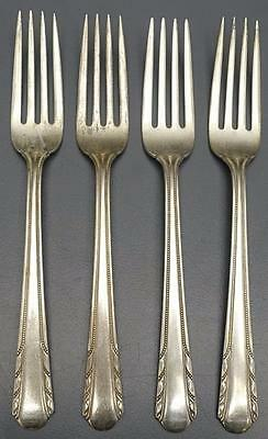 "Lot 4 Alvin Sterling Silver MAYTIME 7"" Lunch Luncheon Forks Silverware Flatware"