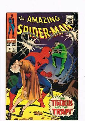 Amazing Spider-Man # 54  The Tentacles and the Trap !  grade 7.5 scarce book !!