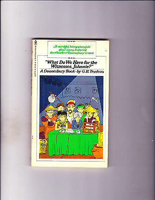 """What Do We Have For The Witnesses? 1976-Strip Reprints Paperback-""""Doonesbury !"""""""