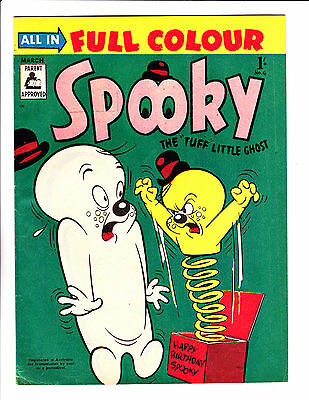 """Spooky No 6 -1957 - Australian - """"Scary Jack In The Box Cover!  """""""