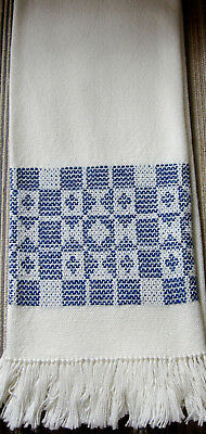 """NEW hand loomed cotton towel/table runner/Boulder Weavers/18 3/8 x 34""""/REDUCED!!"""