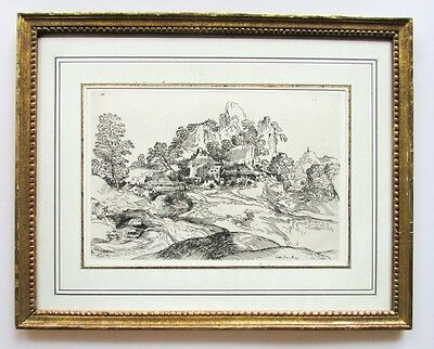 18th Century French Cabinet du Roy Etching Landscape, Circle of Titian, Pl. 186