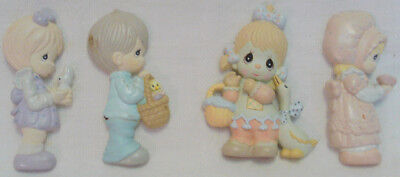 1990 Group of 4 PRECIOUS MOMENTS Refrigerator Magnets