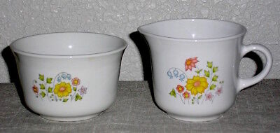 Vintage Corelle by Corning Cream & Sugar Set The Meadow