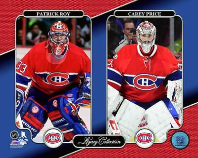 Patrick Roy & Carey Price Montreal Canadiens NHL LICENSED un-signed 8x10 Photo