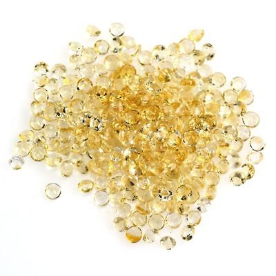 10 PIECES OF 2mm ROUND-FACET NATURAL BRAZILIAN LEMON CITRINE GEMSTONES
