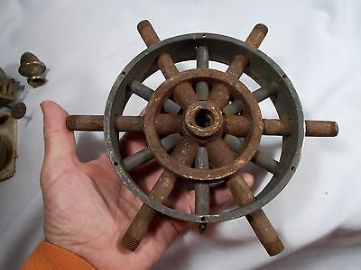 Vintage Large 12 Arm Gas Electric 6 and 6 Cast Brass Cluster Body 6&1/4in wide