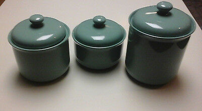 Beautiful Sage Green Kitchen Canisters Set Of Three Ceramic