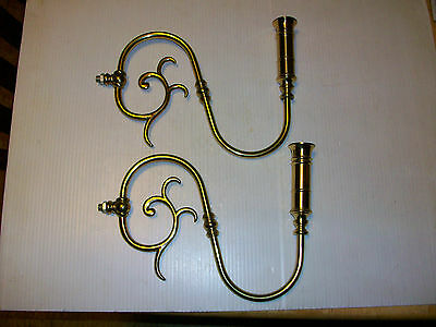 Antique Style Brass Candlestick Sconce Arms Colonial High Quality Brass
