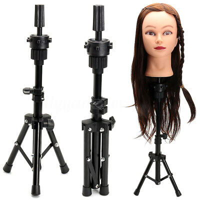 Adjustable Hairdressing Tripod Stand Clamp Hair Training Mannequin Head Holder