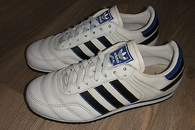 ADIDAS Classic Retro 3 Stripe White Blue Trainers Training Mens Shoes Size 7