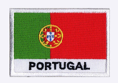 Patch flag badge Patch PORTUGAL 70 x 45 mm Country Monde embroidered sew-on