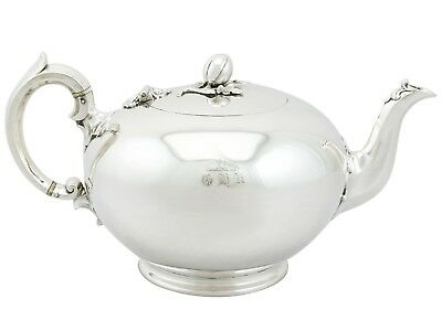 Antique Victorian Sterling Silver Teapot By John & William Barnard, 1840s