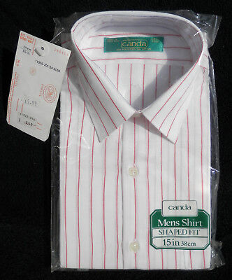 """C&a -  Men's Polyester/cotton Shirt - Shaped Fit - 15"""" Neck - (Brand New In Bag)"""