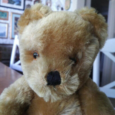 Antique vintage Golden mohair Twyford Teddy bear England, 13 inches, EUC