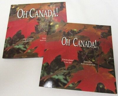 1997 Oh Canada! Canadian Uncirculated Coin Set With Flying Loon Dollar