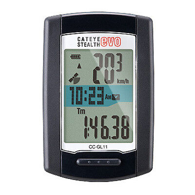 CatEye Stealth Evo Bicycle Computer - CC-GL11 (Black)