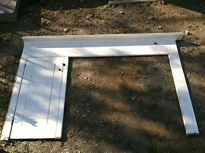 Large  Early 19th century painted Federal Kitchen hearth Fireplace Mantle 1820s