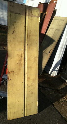 Early 18 th century feather edge two board door,  old paint back never painted