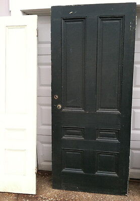 Nice 19th century Greek Revival exterior door 1830-1840 Old painted surface