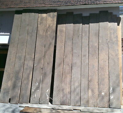 Antique wide board chestnut scrub planed foot worn flooring 170 sq ft circa 1810