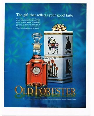 1964 OLD FORESTER Kentucky Bourbon Whisky Christmas Gift Vtg Print Ad