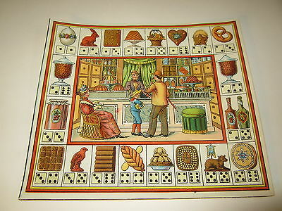 Old c.1890 Antique - French Game PRINT - Pastry Chef - BAKERY - Game of Trades