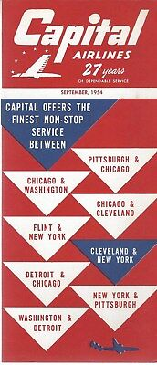 Airline Timetable - Capital - 09/54