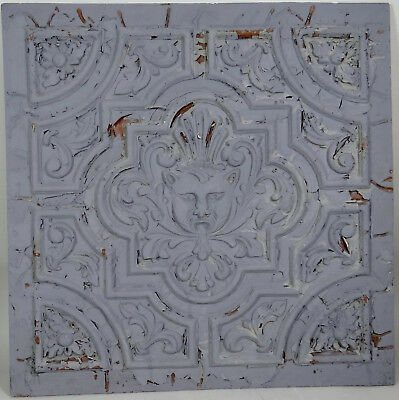 Antique Gothic Tile Gargoyle Wood Ceiling Furniture Cartouche Medallion 24x24 in