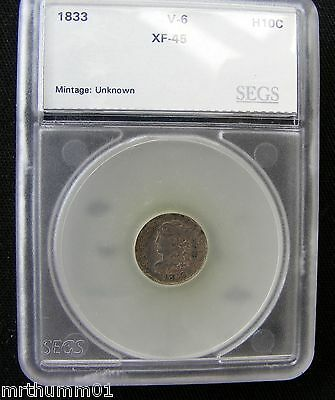 1833 Silver Capped Bust Half Dime-Xf Coin-Inv#166-Lot Going On Here