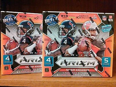 Lot of (2) TWO 2017 PRIZM FOOTBALL Box Boxes HOT! 2 AUTOs & 2 Relics Hot!