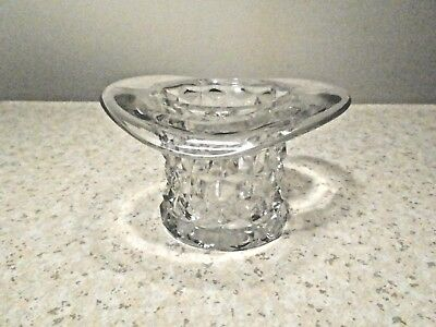 """Fostoria American 3"""" Tall Clear Topper Or Top Hat Excellent"""