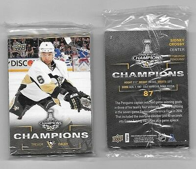 2016 Upper Deck Stanley Cup Champions 18 Card PITTSBURGH PENGUINS Set  SEALED