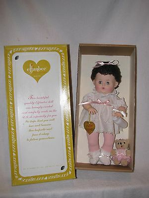 """14"""" Effanbee Reproduction Black Haired DyDee Baby Doll In Box 1984"""