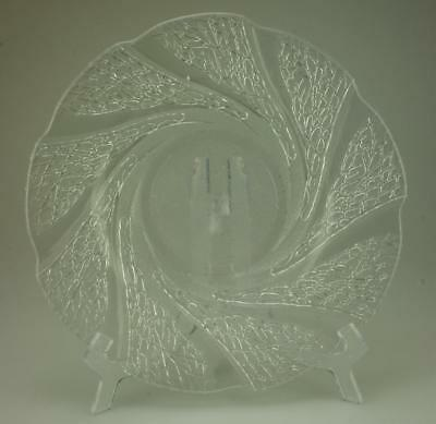 Lot of 4 KIG Indonesia Side Plates in Serene Clear Glass Frosted Textured SA219