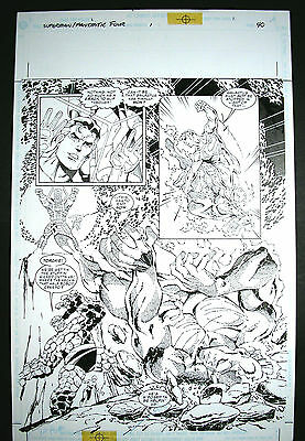 Dan JURGENS- Superman/Fantastic Four-SPLASH+ Galactus; Cyborg Superman 1999