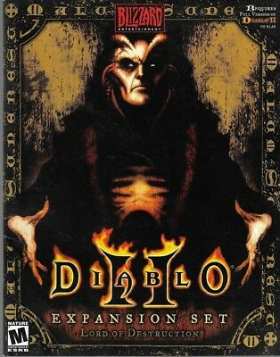 2001 Blizzard Entertainment DIABLO 2 Expansion LOD Set Manual Paperback Book