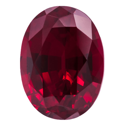LARGE 16x12mm OVAL-FACET TOP-RED RUBY GEMSTONE