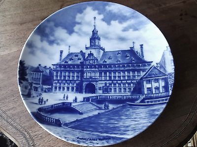 """Collectable Large Display Plate Blue Shades Kaiser Emden Altes Rathaus 9.5"""""""