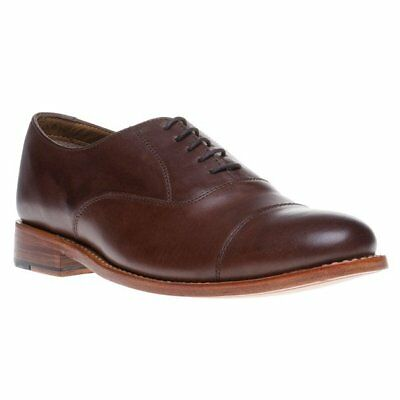 New Mens Hardy Amies Brown Toe Cap Formal Leather Shoes Lace Up