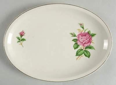 "Paden City Pottery RED ROSE 11 3/4"" Oval Serving Platter S1153397G2"