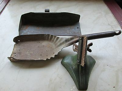 Old Ash Shovel, Fuller Dust Pan And An Old Cast Iron Base