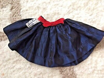 "Vintage Navy Skirt For 17"" Ideal Shirley Temple Doll"